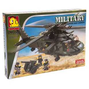Military Chopper and Cannon
