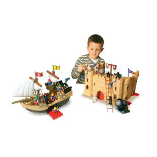 Pirate Ship and Castle Playset