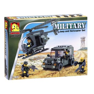 Military Jeep and Helicopter Set