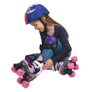 Adjustable Quad Skate Pink/Purple Size 11-13 (UK)