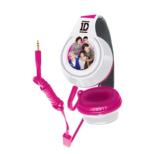 One Direction Headphones White & Pink