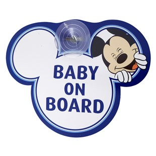 Disney Mickey Mouse Baby on Board Sign