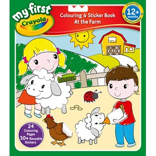 Crayola Farmyard & Seaside Colour and Sticker Book - Assortment