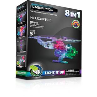 Laser Pegs Helicopter 8 in 1
