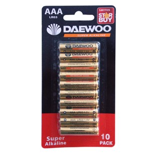 Daewoo AAA Alkaline 10 pack Batteries
