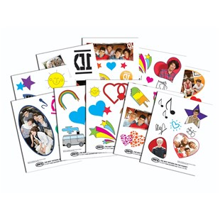 One Direction Body Tagz Clip Strip Assortment