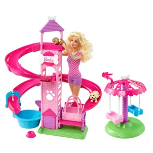 Barbie Slide and Spin Pups