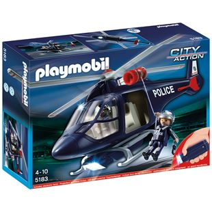 Playmobil Police Helicopter with LEDSpotlight 5183