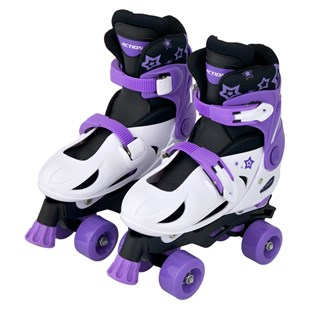 Quad Skate Purple White Size 1-3 (UK)