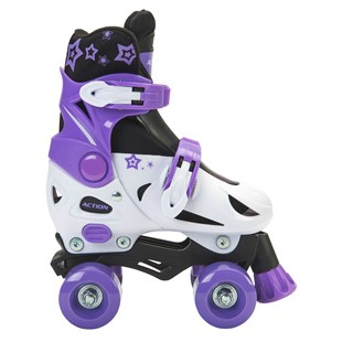 Adjustable Quad Skate Purple/White Size 11-13 (UK)