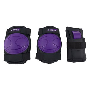 Skate Knee, Elbow and Wrist Pads Purple/Black M