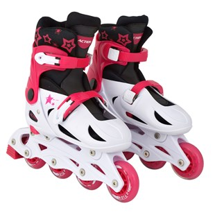Adjustable Inline Skate Pink/White Size 4-7 (UK)