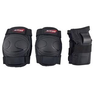Skate Knee, Elbow and Wrist Pads Black Medium