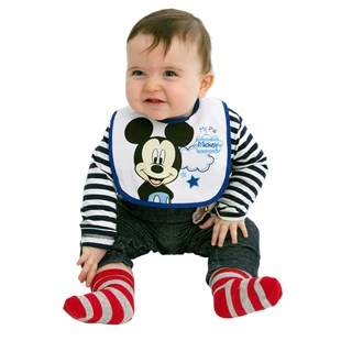Disney Cotton Bibs Mickey Mouse