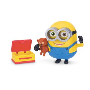 Minions Deluxe Bob Action Figure With Teddy Bear & Lunch Box