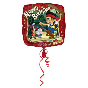 Jake and the Never Land Pirates Square Foil Balloon