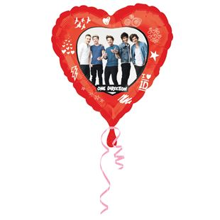 One Direction Heart Shaped Foil Balloon