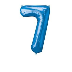 Super Shape Number 7 Blue Foil Balloon