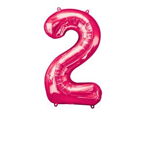 Super Shape Number 2 Pink Foil Balloon