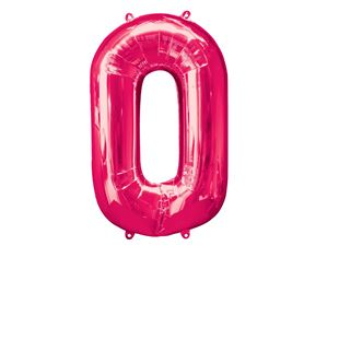 Super Shape Number 0 Pink Foil Balloon