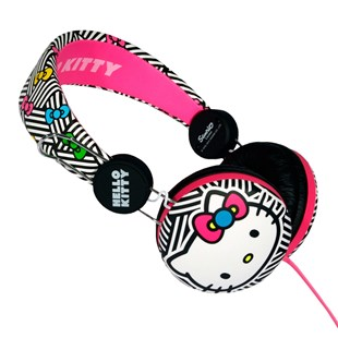 Hello Kitty Headphones - Pink Neon