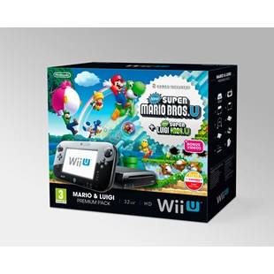 Wii U Console 32gb Black Premium Mario and Luigi