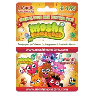 Moshi Monsters 1 Month Membership