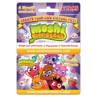 Moshi Monsters 6 Month Membership