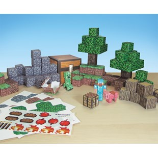 Minecraft Paper Craft Overworld Set