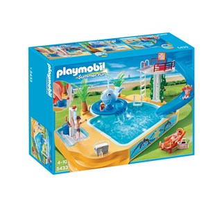 Playmobil Children's Pool with Whale Fountain 5433