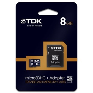 8GB Micro SDHC Card + Adapter