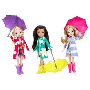 Moxie Girlz Raincoat Colour Splash Doll Asst