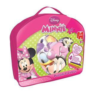 Disney Minnie Mouse 24 pcs Giant Puzzle & Colour