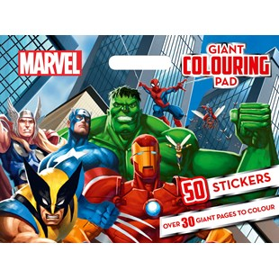 Marvel Heroes Giant Colouring Pad