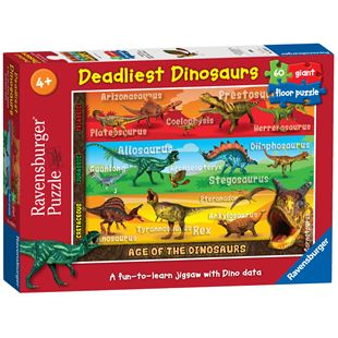 Ravensburger Deadliest Dinosaurs Giant Floor 60 pieces Puzzle