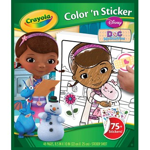 Disney Doc McStuffins Crayola Colour n Sticker Book