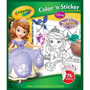 Crayola Disney Sofia the First Colour n' Sticker Book