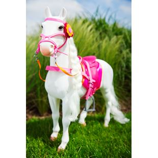 Our Generation White Hair Play Horse 50cm
