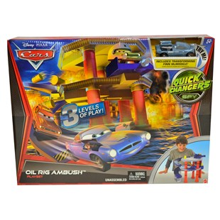 Cars Quick Chargers Spy Oil Rig Playset