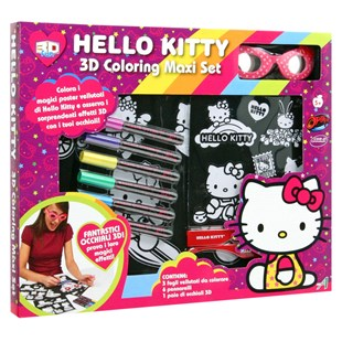 Hello Kitty 3D Colouring Set