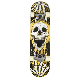 Double Kick Skull Skateboard