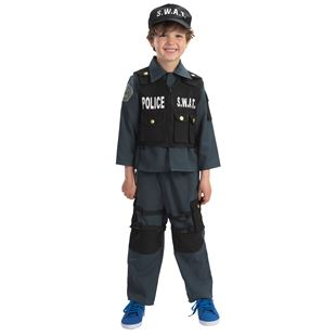 Deluxe S.W.A.T Police Officer Small Costume