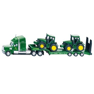 Siku 1:87 John Deere Low Loader with 2 JD 6820 Tractors