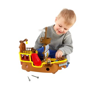 Fisher Price Jake Adventure Pirate Ship Bucky