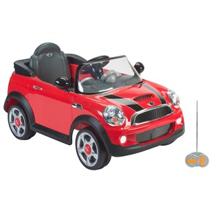 Red 6V Mini Cooper with Remote Control