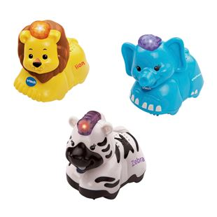 VTech Toot Toot Animals Elephant, Zebra,Lion