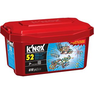 K'NEX 52 Model Building Set Tub