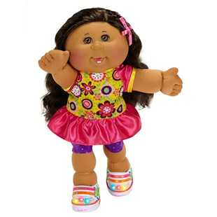 Cabbage Patch Kids Girl Brown Hair Twinkle Toes