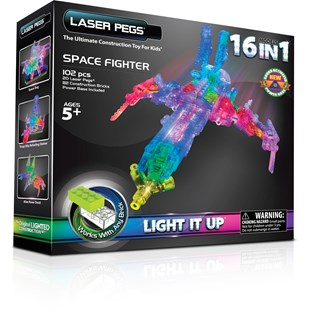 Laser Pegs Space Fighter 16 n 1
