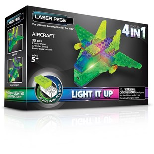 Laser Pegs Aircraft 4 n 1